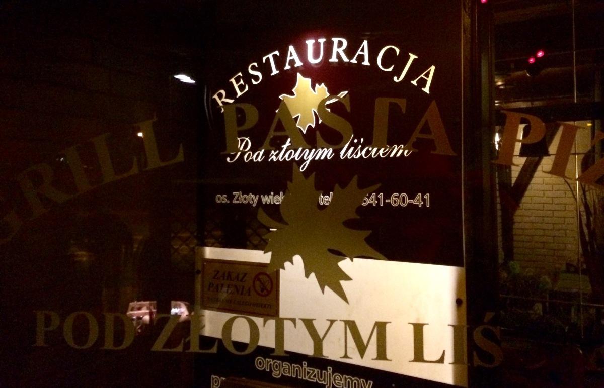 Restauracja Pod Złotym Liściem - Kraków, Mistrzejowice